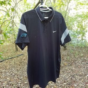 Nike Golf Carolina Panthers Black Dri-Fit Polo XL